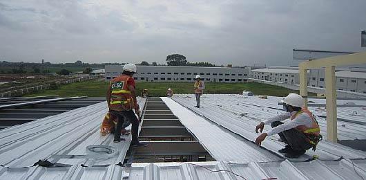 Lắp đặt mái tôn chống nóng | ton chong nong