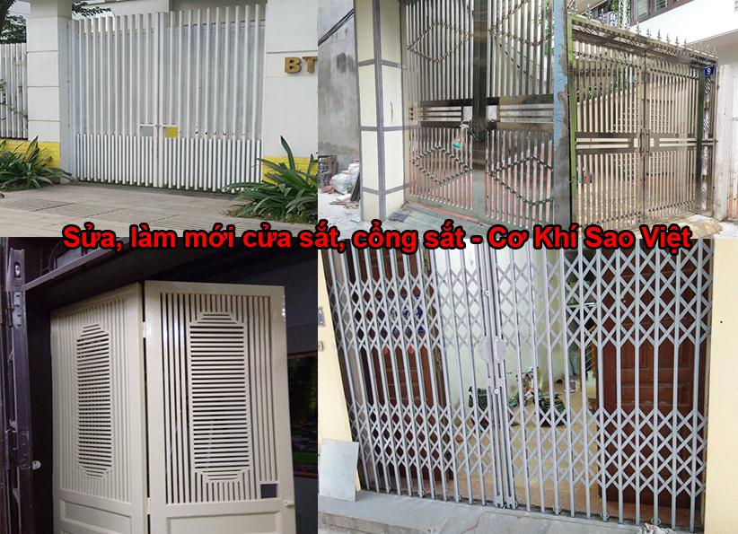 <em><strong>Sửa cửa sắt, cổng sắt các loại tại Hà Nội - Cơ Khí Sao Việt</strong></em>